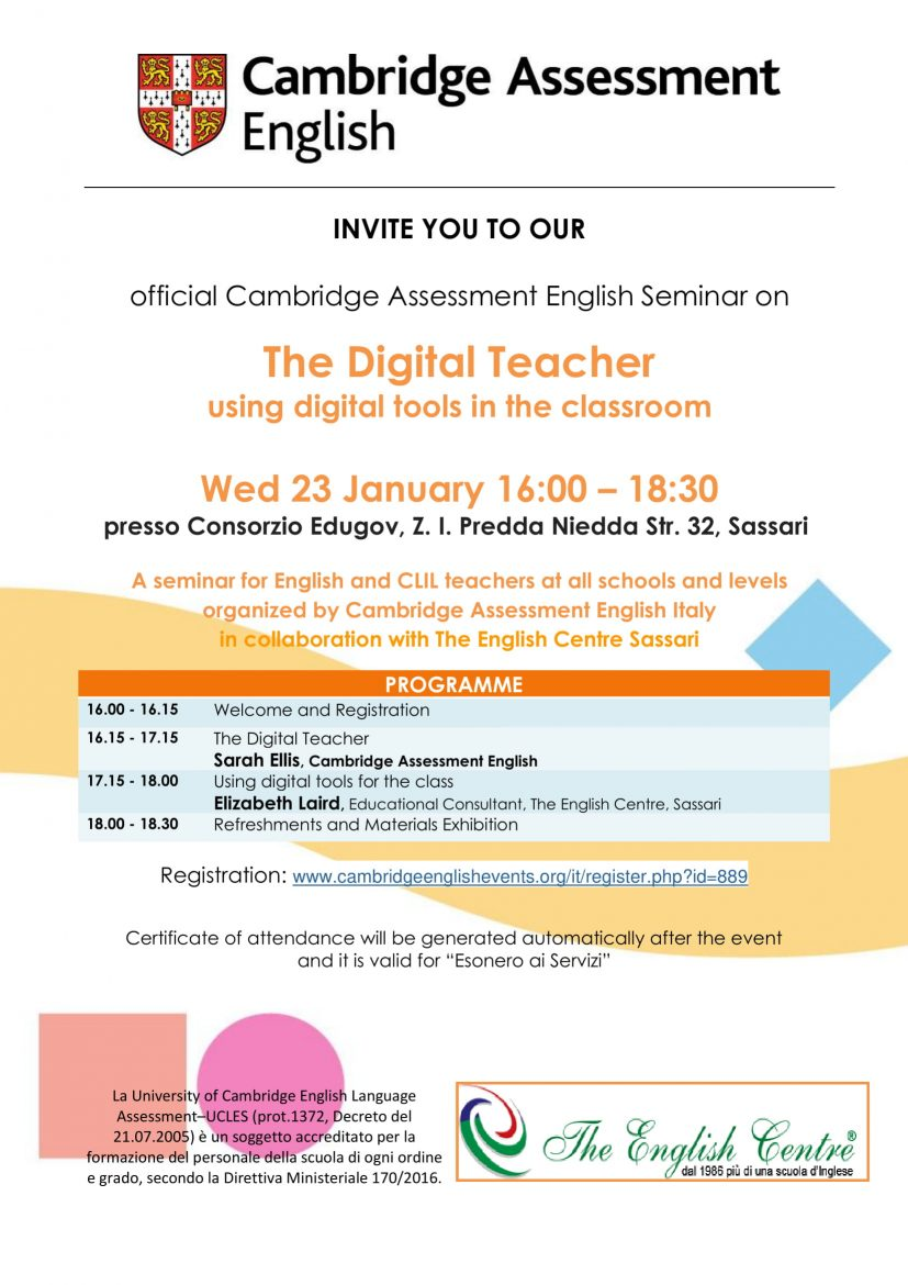 The Digital Teacher – Cambridge Seminar