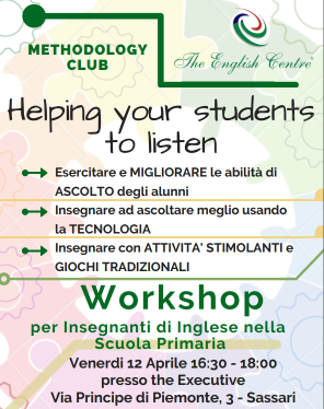 "Workshop per insegnanti scuola primaria ""Helping your student to listen"""