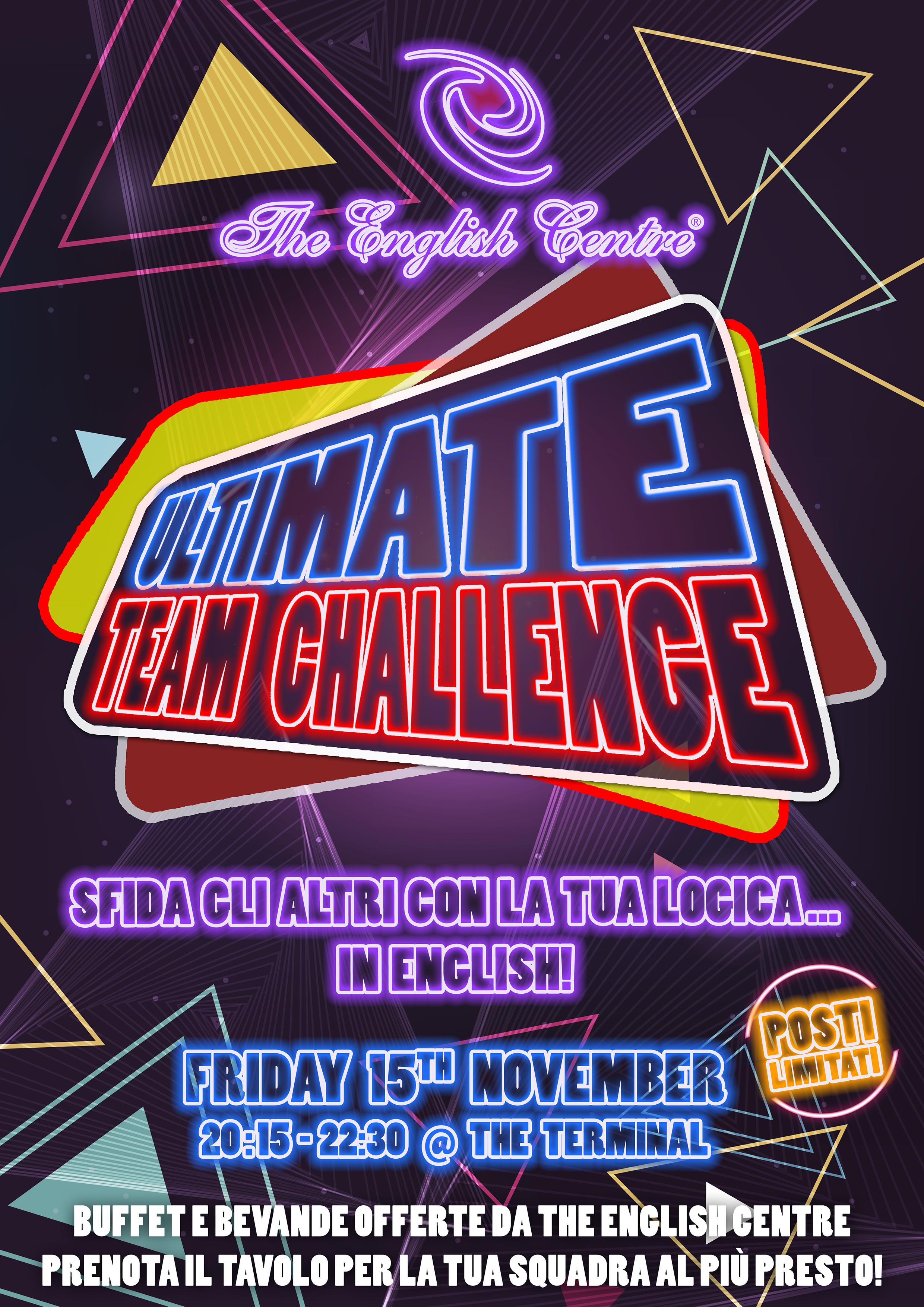 Team Challenge  – Evento per studenti adulti TUTTI I LIVELLI!